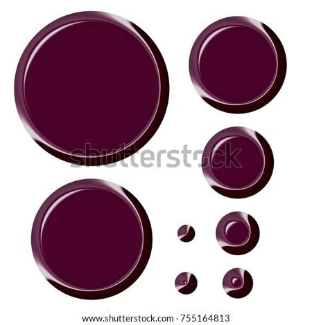 Rich Shiny Wine Red Burgundy Purple Stock Illustration Royalty