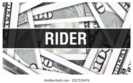 Rider Closeup Concept. American Dollars Cash Money,3D rendering. Rider at Dollar Banknote. Financial USA money banknote and commercial money investment profit concept