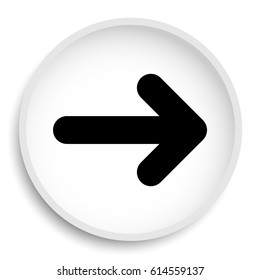 Right arrow icon. Right arrow website button on white background.