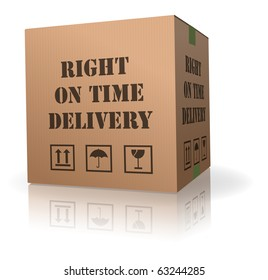 right on time delivery shipment cardboard box logistic package sending