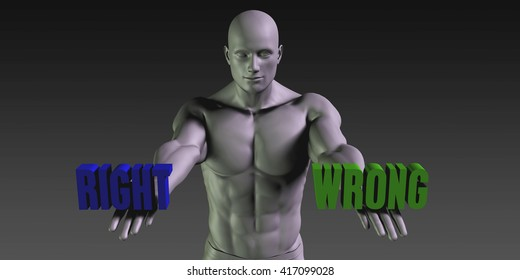 Right vs Wrong Concept of Choosing Between the Two Choices