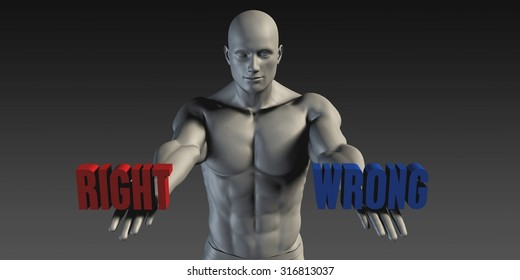 Right or Wrong as a Versus Choice of Different Belief