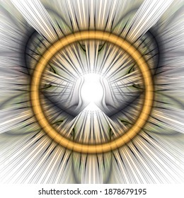 Ring. Abstract optical visionary fractal art