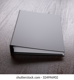 Ring binder on a table close-up