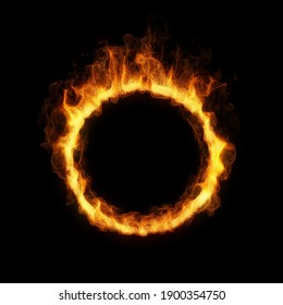 ring of fire. 3D render
