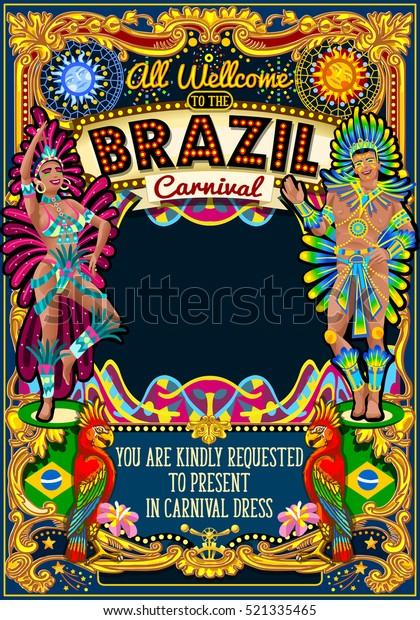 Ilustración De Stock Sobre Cartel Del Festival Carnaval De