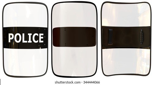 Riot shield isolated on white