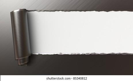 ripped metal, 3d image