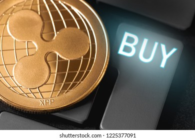 ripple coin cryptocurrency with buy button