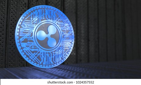 Ripple coin XRP Cryptocurrency. Ripple is a blockchain technology that acts as both a crypto currency and a digital payment network for  financial transactions