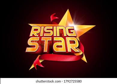 Rising Star style concept logo