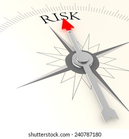 Risk campass image with hi-res rendered artwork that could be used for any graphic design.