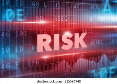 Risk concept red background with red text