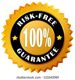 Risk free guarantee label