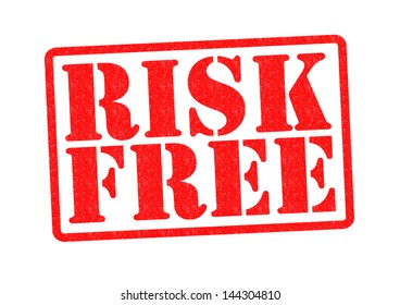 RISK FREE Rubber Stamp over a white background.
