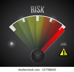 risk level measure meter from low to high, concept illustration design