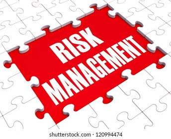 Risk Management Shows Identifying, Evaluating And Treating Risks To Prevent Danger To Companies Or Business. Using Analysis To Make A Financial Plan.