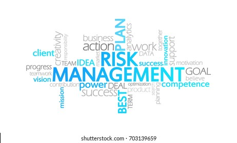 Risk Management, Typography Info-graphic Clip-Art