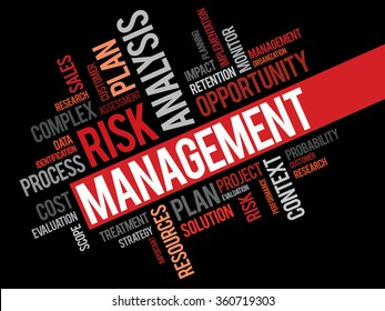 Risk Management word cloud, business concept background