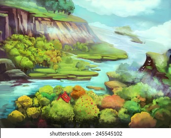 River Side - Illustration for children