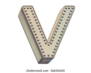 riveted metal font