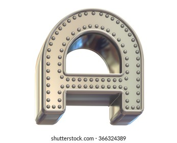 riveted metal font