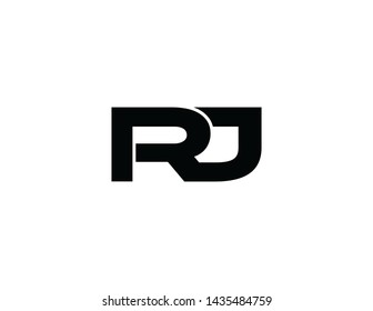 rj original monogram logo design