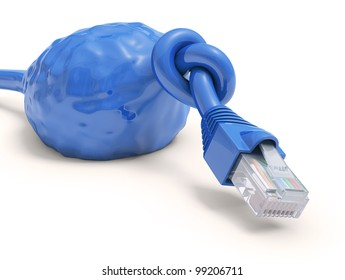 RJ45 cable overloaded with information download.
