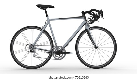 road bicycle on white background