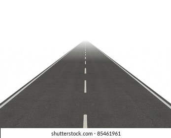 road isolated straight