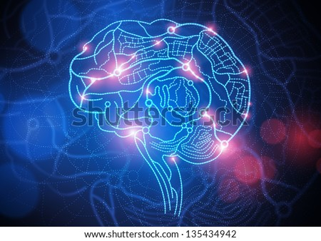 Road Map of The Mind. Conceptual image, roads and streets making up a human brain.