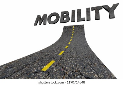 Road to Mobility Transportation Business Word 3d Illustration