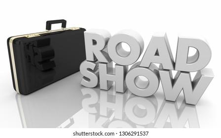 Road Show Sales Presentation Word 3d Illustration