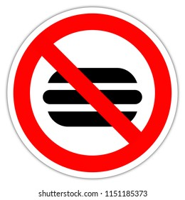 road sign in France: No food