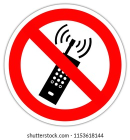 Road sign in France: No mobile phone sign