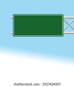 road sign for highway sign board   illustration green sign board green highway board  Green road signs different shapes on metal post front and angle view Vector realistic set of blank traffic sign