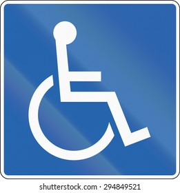 A Road sign in Iceland: Disabled
