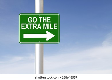 A road sign indicating Go the Extra Mile