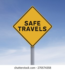 A road sign indicating Safe Travels