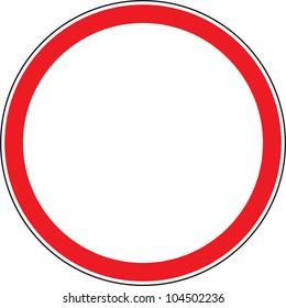 "Road sign ""No thoroughfare"""