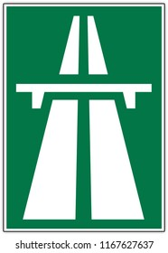 road sign in Switzerland: highway - motorway - road reserved for motor vehicles