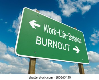 Road sign to work life balance