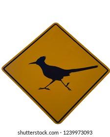 roadrunner crossing street sign