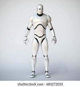 Robot 3d rendering