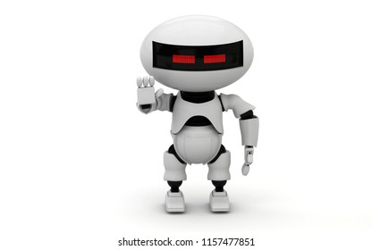 Robot. 3d rendering illustration. Isolated on white. Droid. 3d render. Robotic droid. Humanoid. 3d art. Cyborg. Modern technology. Future. Mechanical machine. Technic science. Futuristic background.