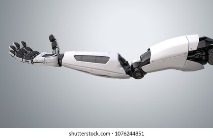 Robot android arm.3D illustration