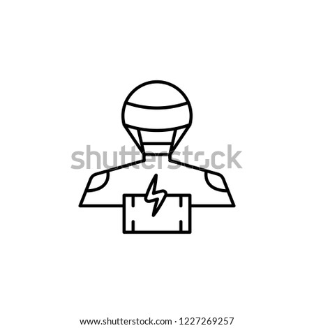 Robot Battery Icon Element Robotics Engineering Stock Illustration