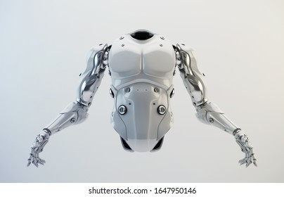 Robot body part for replacement, 3d rendering