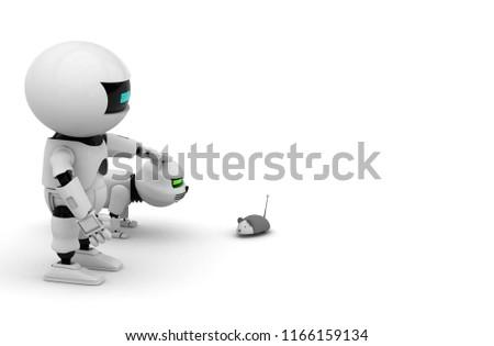 Royalty Free Stock Illustration of Robot Cat 3 D Rendering