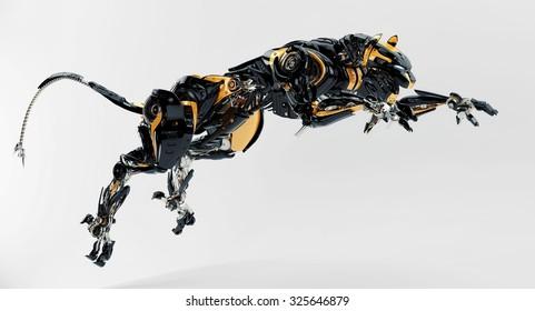 Robot panther jumps